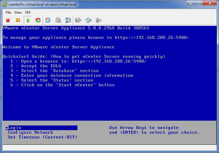 vSphere 5 vCenter Server Virtual Appliance Quick-Start Guide (3/6)