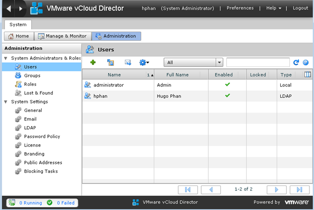 A look at VMware vCloud Director Organization LDAP